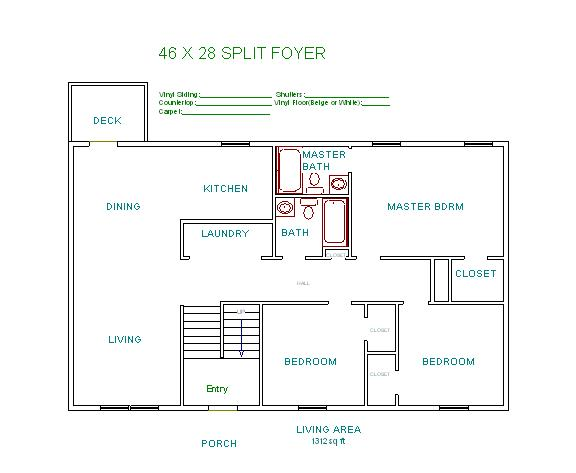 Foyer Plan Quote : Split level house floor plans